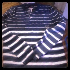 NWT RL sweater 14/16 navy white ⚓️🏇🏻